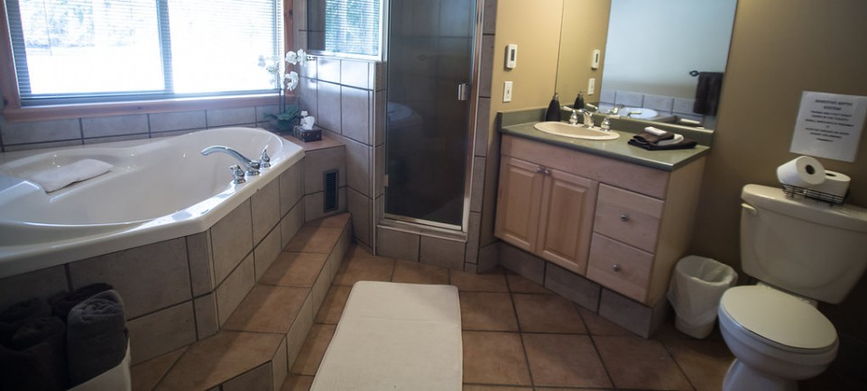 Master Bathroom - large soaker tub - heated floors